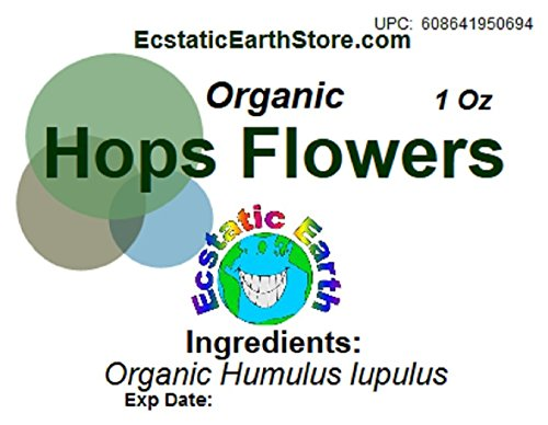 Organic Hops Flowers Dried ~ 1 Ounce ~ Humulus lupulus