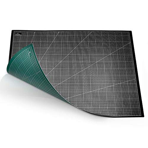 DEKOLONA ® Selbstheilende Schneidematte Schreibtischunterlage aus 5-lagigem PVC - 60 x 90 cm - Die perfekte Schneide und Bastelunterlage - Schneidmatte - A1 Cutting Mat