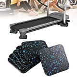 CttiuliYjid Yoga Mat, 6Pcs Sound-Proof Treadmill Mat Sound Insulation Cushion Thickened Home Fitness Yoga Mat