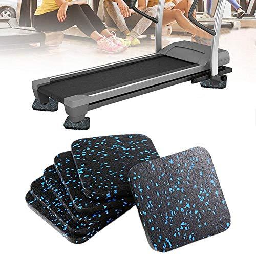 Cfiret Fitness Mat 6pcs insonorizada caminadora Mat Aislamiento acústico Amortiguador de Yoga Mat Espesado Home Fitness
