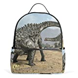 MUOOUM Dino Dinosaur Egg Ampelosaurus Backpack Casual Daypack School College Travel Bag for Teens Boys Girls