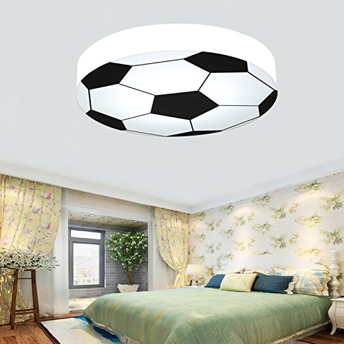 Waineg Kinderzimmer Licht Kreative Fußball Deckenleuchte Moderne LED Junge Mädchen Augenschutz Deckenleuchte E27 Wohnzimmer Schlafzimmer Kindergarten Dekoration Licht (Weiß) 56 cm