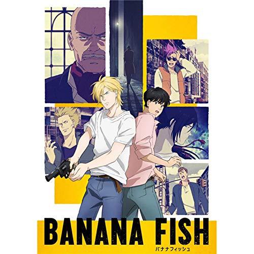 Sweet&rro17 Banana Fish Anime Poster Silk Fabric Wandbild Zimmer Deko Wand für Wohnzimmer Schlafzimmer(30 x 45 cm)