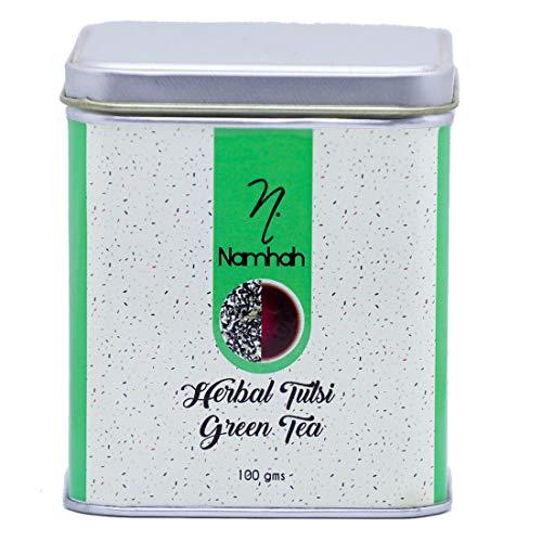 Namhah Herbal Tulsi Green Tea, Natural Herbal Tea, Natural Tulsi Tea, Loose Leaf Tea