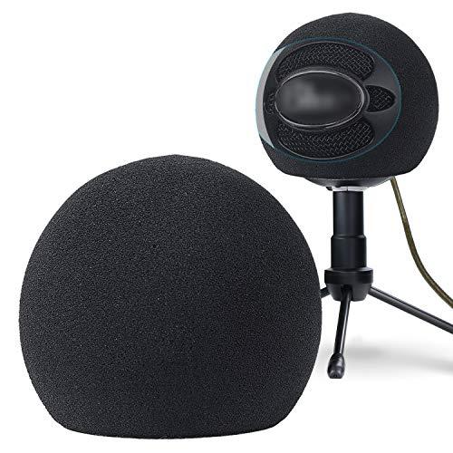 YOURSHARES Blue Snowball Microphone Windscreen Pop Filter - Mikrofon Windschutz Schaumstoff Popschutz für Blue Snowball iCE Mikrofon (Schwarz)