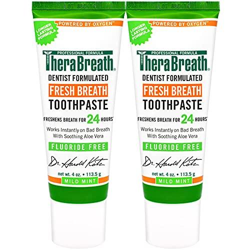 TheraBreath Fresh Breath Dentist Formulated Fluoride Free Toothpaste,...
