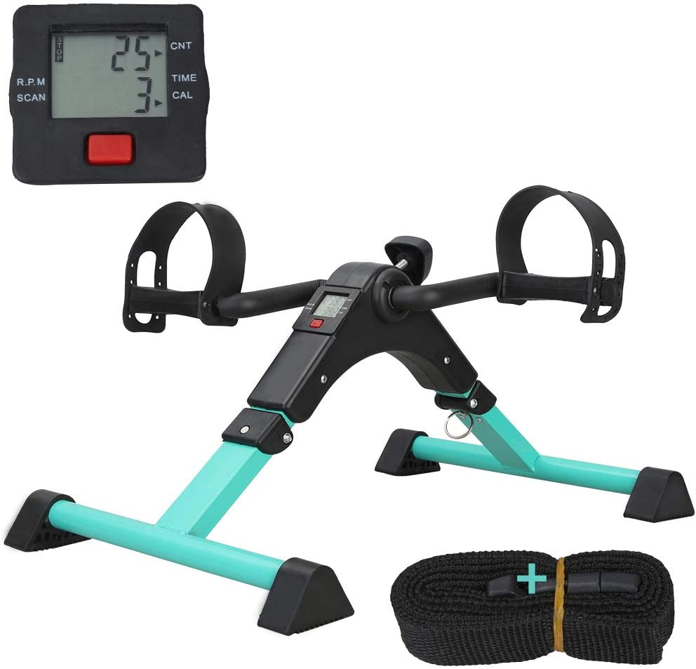 Blue HML 最新号掲載アイテム Folding Pedal 永遠の定番モデル Exerciser Electronic for Display with Leg