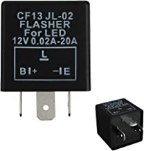 iJDMTOY (1) 3-Pin CF-13 CF13 EP34 Electronic Flasher Relay Fix For LED Turn Signal Light Bulbs