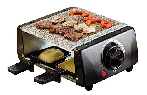 Rosenstein & Söhne Raclette Grill: Raclette mit Grillaufsatz und heißem Stein, für 4 Personen, 650 Watt (Raclette Grills heiße Steine)