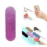 ZOQIZA Phone Grip Holder Portable Finger Grip Holder Strap Bracket Phone Loop Finger Kickstand for Universal Phone Charms (Glittler Purple Pink)