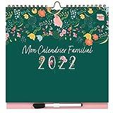 (en francés) 'Mon Calendrier Familial' de Boxclever Press. Planificador Semanal. Genial Calendario 2021 2022 Pared con Formato 6 Columnas. Calendario 2021 2022 Mediados Agosto'21-Dic'22 con Bolsillo
