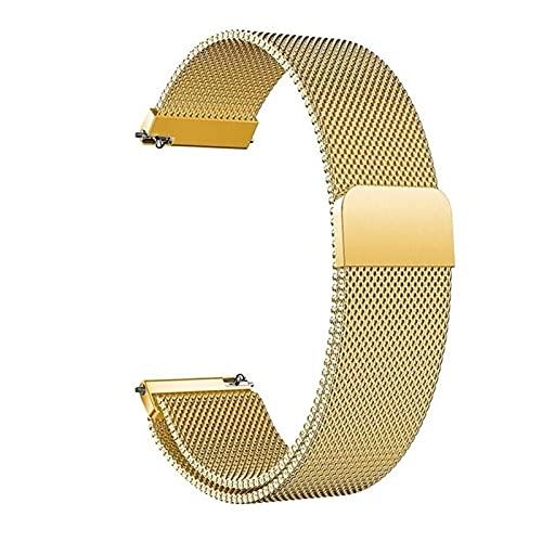 RVTYR Reloj Correa, 14 mm 16 mm 18 mm 20 mm 22 mm 24 mm Metal de Acero Inoxidable Malla de Malla Malla Correa de Pulsera con Pulsera de Pines Relation Correas de Reloj