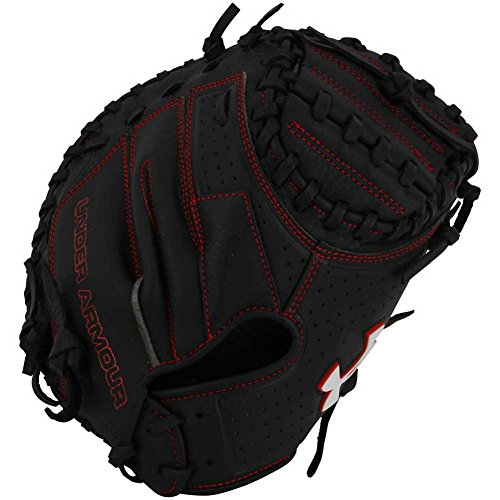 Under Armour Baseball UACM-100Y Framer Series Baseball Catching Mitt, Black, Youth 31.5