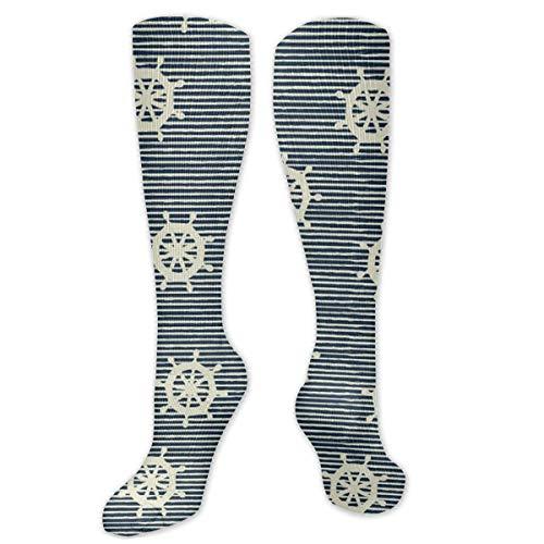 NGMADOIAN Patrón con formas geométricas Calcetines de compresión cómodos y suaves de moda para hombres y mujeres Calcetines avanzados que absorben la humedad