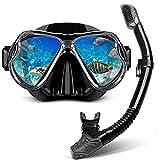 CHSDN Juego de Snorkel seco, Vista panorámica Amplia, máscara de...