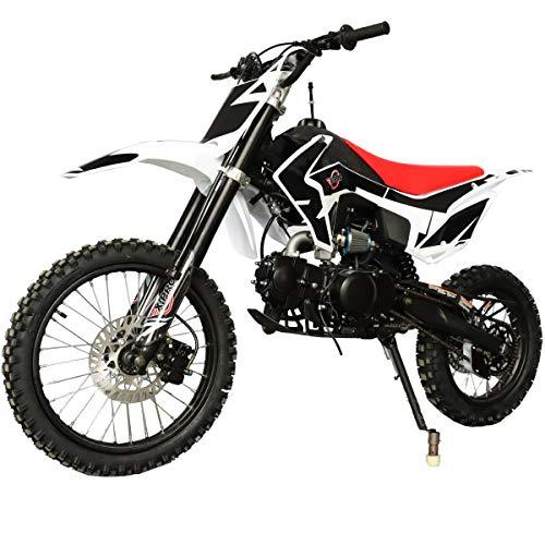 X-PRO Titan 125cc Zongshen Engine Dirt Bike Pit Bike Adults Dirt Pit Bike with 4-Speed Manual Transmission,Big 17″/14″ Tires! (Black)