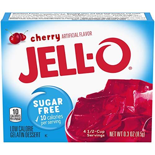 Jell-O Sugar Free Cherry Low Calorie Gelatin Dessert (8,5 g)