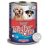 Migliorcane Set 24 MIGLIOR Cane Bocconcini Manzo 400 Gr Alimento per Cani...