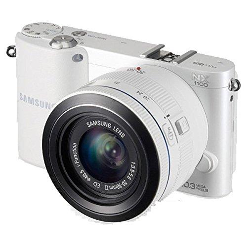 Samsung NX1100 Smart Wi-Fi Digital Camera Body & 20-50mm Lens (White)