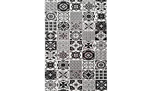 MANI TEXTILE TPS_TREN_Bla_60 Tapis, Polyester, Noir, 60 x 90
