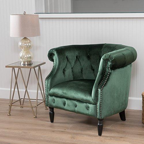 Christopher Knight Home Akira Velvet Club Chair, Emerald
