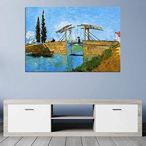 Rompecabezas Familiar Para Adultos de madera Rompecabezas Rompecabezas Rompecabezas Langrou Puente Paraguas 1000 Unidad de Van Gogh impresionistas adultos que viven de recuerdos Habitación Clásica Inf