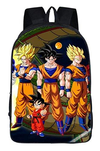 Siawasey Dragon Ball Z Anime Goku Cosplay Rucksack Daypack Schultasche Laptop-Tasche Schule Tasche