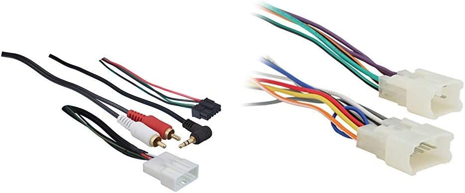 Metra 70-8114 Steering Wheel Control Wire Harness with RCA for 2003-Up Select Toyota/Scion/Lexus Vehicles & Metra 70-1761 Radio Wiring Harness For Toyota 87-Up Power 4 Speaker
