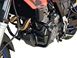 Hepco&Becker Barra de protección del motor negra para Aprilia Pegaso 650 Strada/Trail 650 (2005-2009)