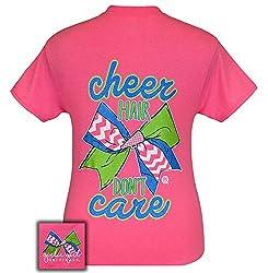 Girlie Girl Originals T-Shirt - Cheer Hair Don't Care - Cheerleader Tee