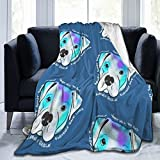 Adopta una manta de toro, reversible, cálida y ultra suave, manta de forro polar para todas las estaciones para niños, niños, adultos, mantas para sofá de cama y sofá de 50 x 40 pulgadas