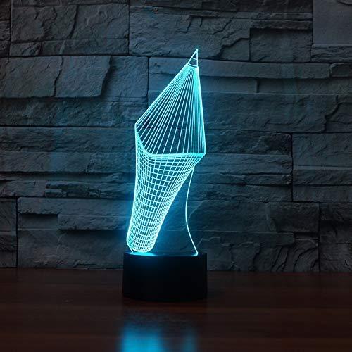 Nieuwe visuele stereo grote hoofd potlood nacht licht creatieve nacht licht 3D stereo licht 3D