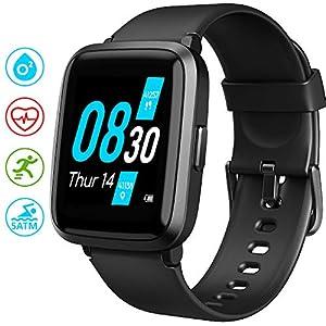 UMIDIGI Uwatch3 Reloj Inteligent 5ATM Impermeable Smartwatch con Cronómetro Pulsera Actividad para Deporte de Fitness con Podómetro Smartwatch Mujer Hombre niños para iOS y Android 8