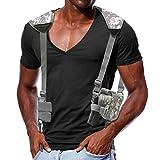 Vertical Shoulder Holster Concealed Carry Universal Horizontal Shoulder Gun Holsters Adjustable for Most Kinds of Pistols Camouflage Grey