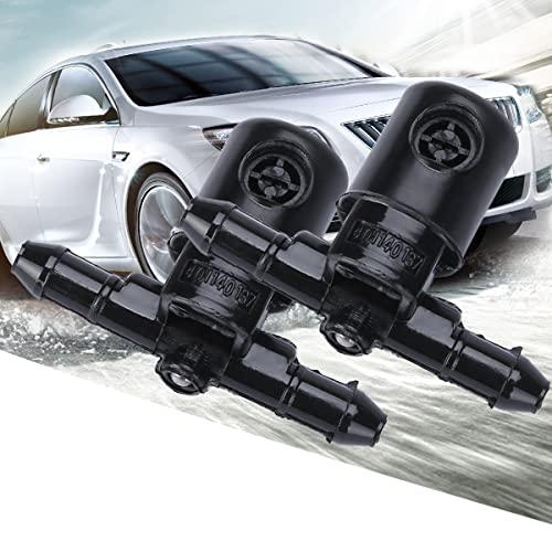 Boquilla Spray Rociador Chorro Limpiaparabrisas Bomba para Opel Insignia A Astra J G Combo C Corsa C Tigra B Zafira A, Toberas, 2 Piezas (Viene con 1 Juego de válvula de llanta de aleación)