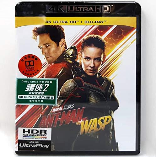 Ant-Man And The Wasp (4K UHD + Blu-Ray) (Hong Kong Version / Chinese subtitled) 蟻俠2: 黃蜂女現身