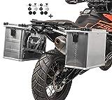Alukoffer 34l-45l mit Adapter 16mm für Ducati Multistrada 620