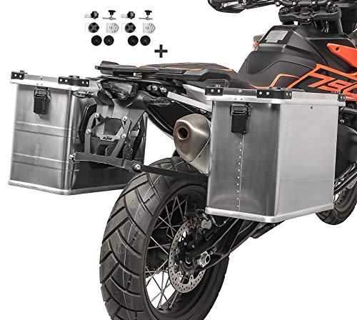 Maletas Laterales Aluminio Gobi 34-45l para Benelli Leoncino 500 / Trail + Kit portamaletas