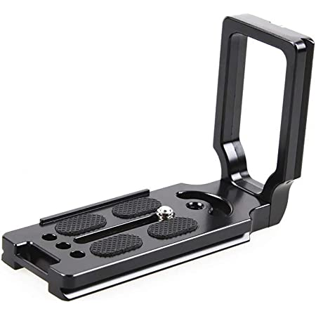 NEOHOOK Universal Quick Release L-Plate Bracket for Canon DSLR Camera Arca Swiss - Black