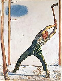 Ferdinand Hodler Woodcutter Art Print Canvas Premium Wall Decor Poster Mural