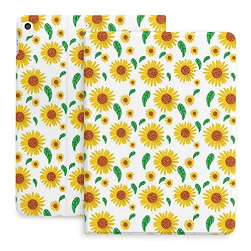Sweet grape Funda para iPad 2020 de 10,2 pulgadas, con lápiz, diseño de flores de sol, fondo de verano, naturaleza, soporte para la parte trasera de cuerpo completo de TPU