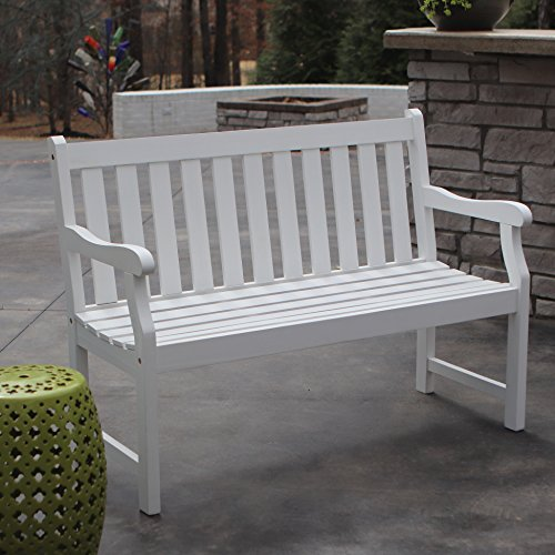 Décor Therapy FR8578 Outdoor Bench, White