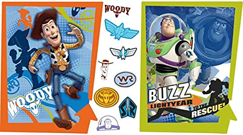 Roommates Rmk1495Gm Toy Story 3 Buzz And Woody Peel Stick Giant Wall Decals