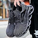 Calzado de protección Zapatos de seguridad casuales, zapatos de seguridad resistentes a los resistentes al desgaste, zapatos de seguridad para hombres Mujeres para hombres gorras de punta de acero bot