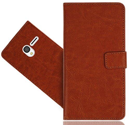FoneExpert® Alcatel Pixi 3 (4.5 inch) Handy Tasche, Wallet Hülle Flip Cover Hüllen Etui Hülle Premium Ledertasche Lederhülle Schutzhülle Für Alcatel Pixi 3 (4.5 inch)
