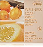 Speick Wellness Soap Dusch und Badeseife Sanddorn + Orange, 200 g