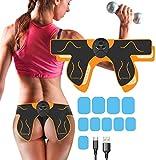 Electroestimulador Muscular Gluteos,EMS Gluteos Estimulador de Glúteos Herramientas Nalgas para la Cadera,Estimulador Muscular Ejercitar Gluteos USB Recargable, Hombre y Mujer,Entrenador de Cadera