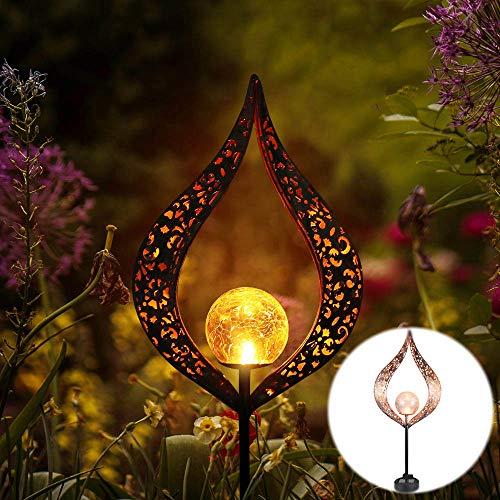 Sunsbell Solarleuchten im Freien, Gartenlichter mit tanzender Flamme, wasserdichte Landschaftsbeleuchtung, automatisches Ein- und Ausschalten von der Dämmerung bis zum Morgengrauen, verwendet (A)