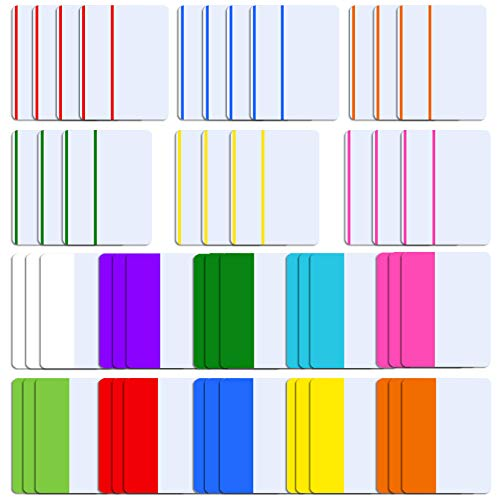 SIQUK 1000 Pieces Tabs 2 Inch Sticky Tabs Index Tabs Colored Page Markers Tabs for Reading Notes, Books and File Folders, 50 Sets 16 Colors