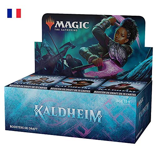 Magic The Gathering- Boîte Draft Kaldheim, 36 boosters (540 Cartes Magic) -Version française